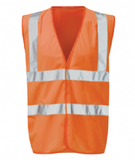 Orbit Black Knight Hi-Vis Waistcoat Orange - XLarge
